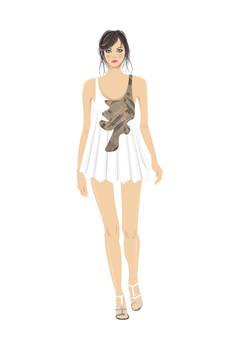 Fashion Runway Vector Sketch,,