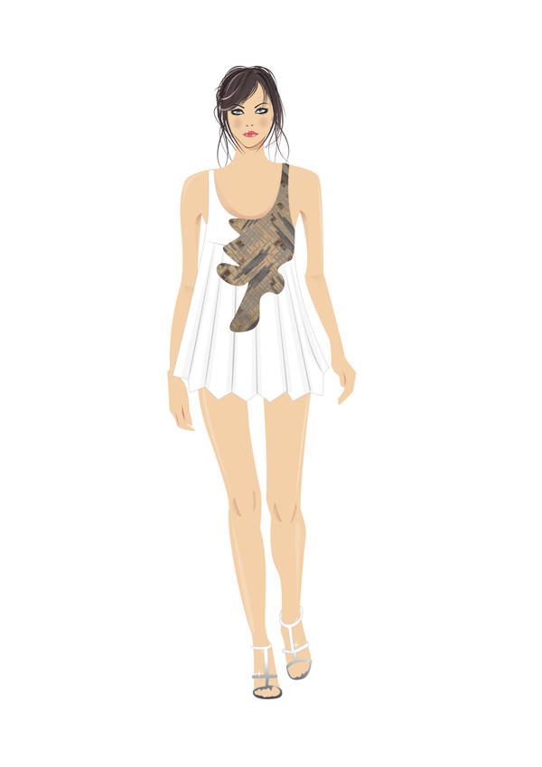 Fashion Runway Vector Sketch,, by IVYangelica