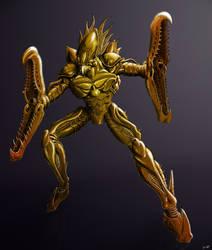 MDB Bestiary: Zebesian Space Pirate-X (Gold)