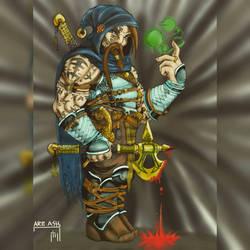Dwarf wizard  by AR3ASH