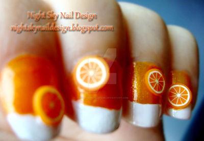 31 Day Challenge, Day 2: Orange Nails