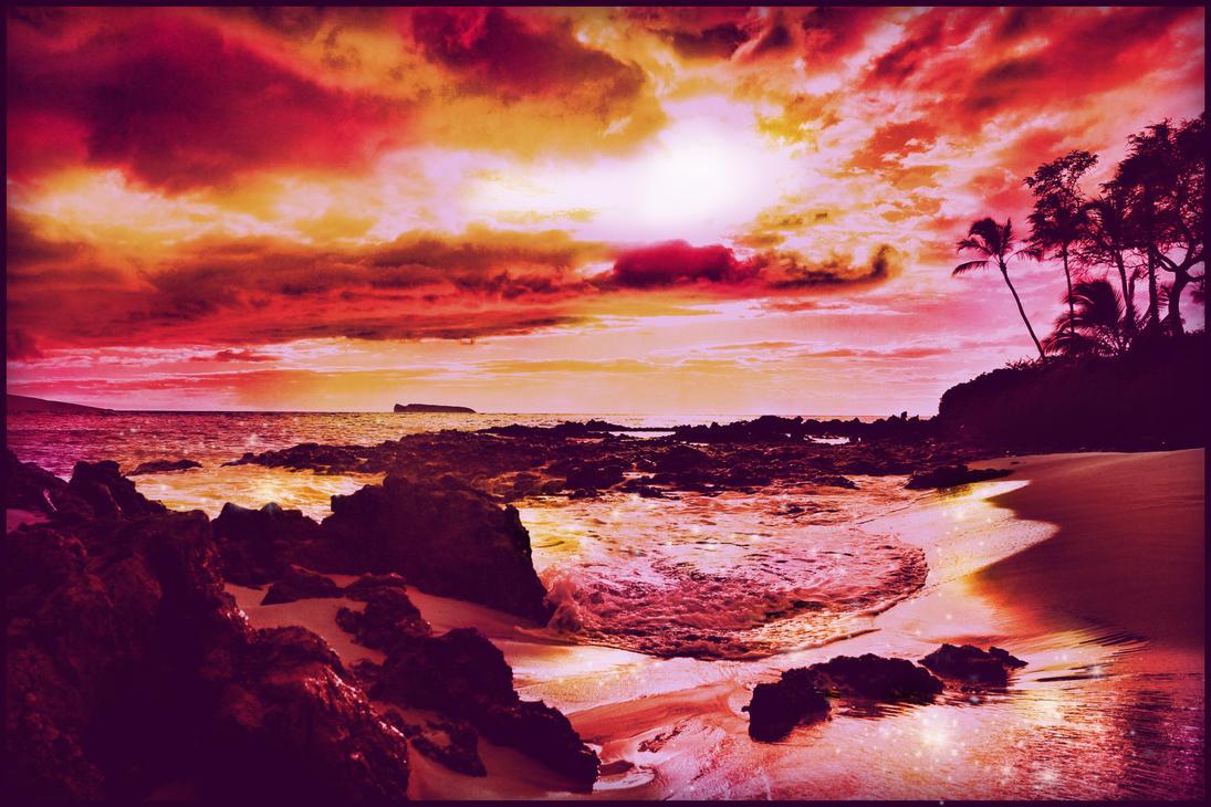Magical Maui Sunset by fluzzyamber