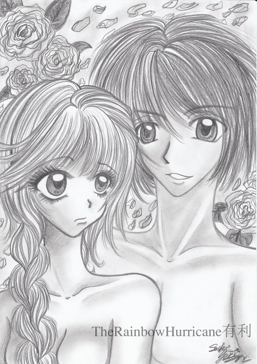 Pencil drawing boy and girl by yuuricchin on deviantart