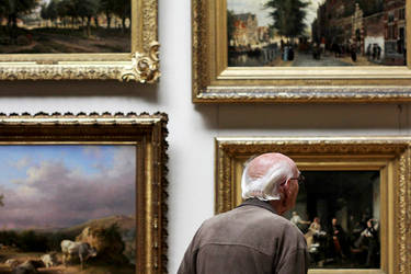Looking at the paintings