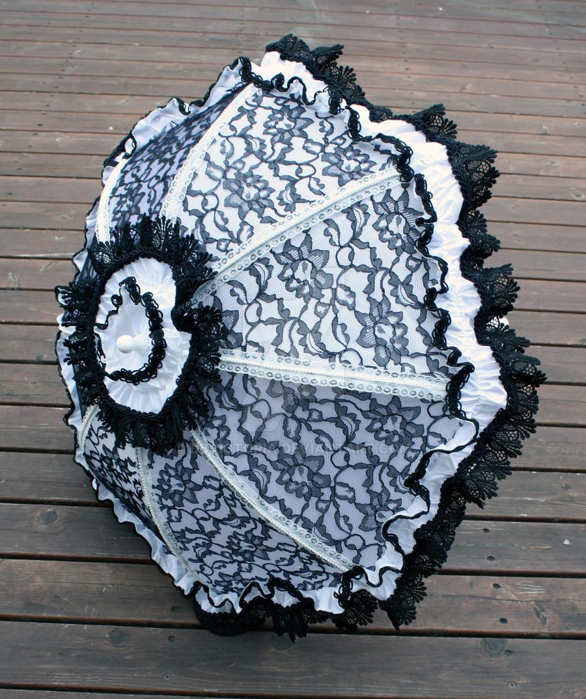 White Satin Black Lace by dbvictoria