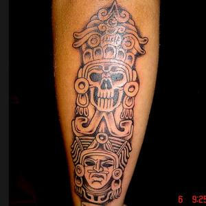 mayan skull by JesseDelRio