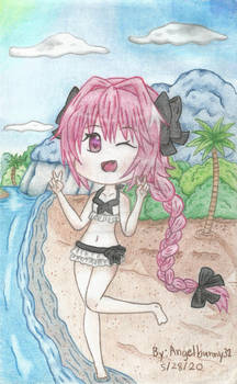Astolfo at the Beach (20$ commission)