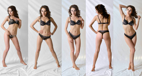 Black Lingerie - 5 Views by SwiftCreekPhotos