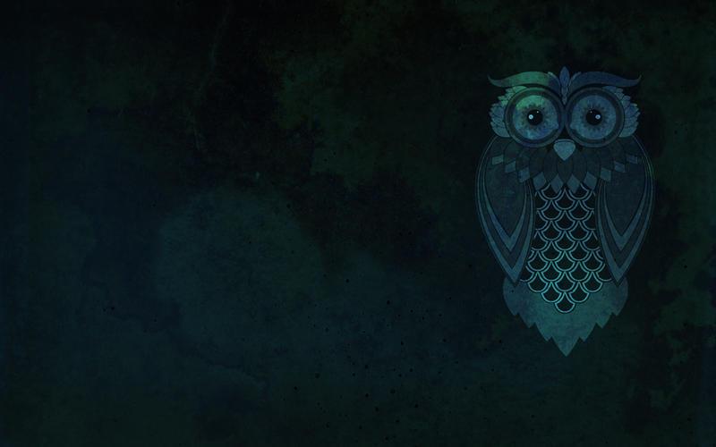 Blue Owl Deskto... Owl Desktop Wallpaper Hd