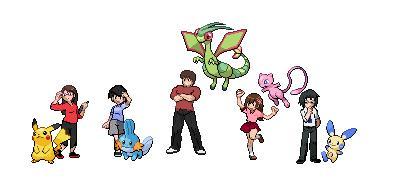 Pokemon trainers by wizardotaku
