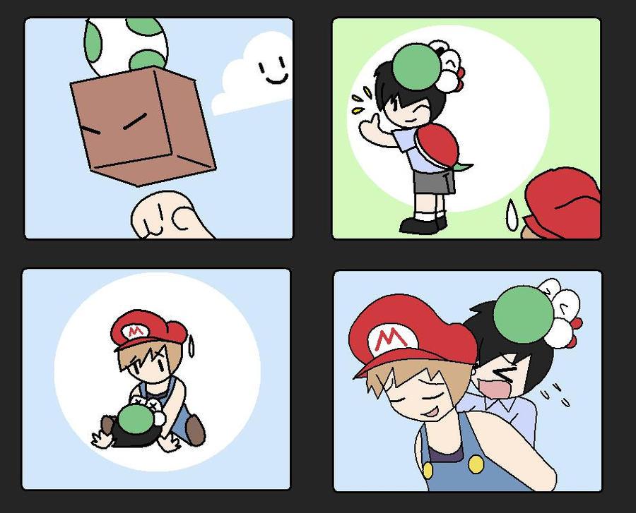 A silly but cute comic by wizardotaku