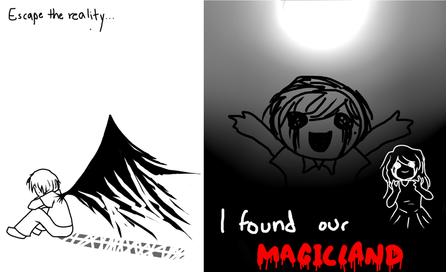 Escape and Our Magicland by wizardotaku