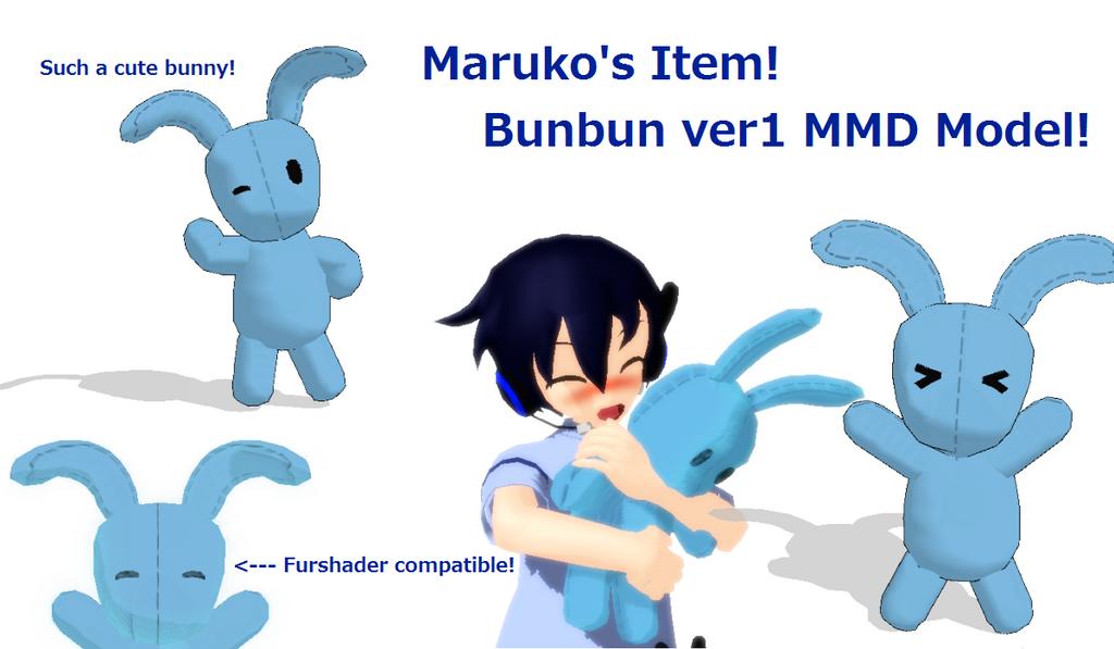 MMD NEWCOMER - Bunbun Ayume Maruko's Plushie! by wizardotaku