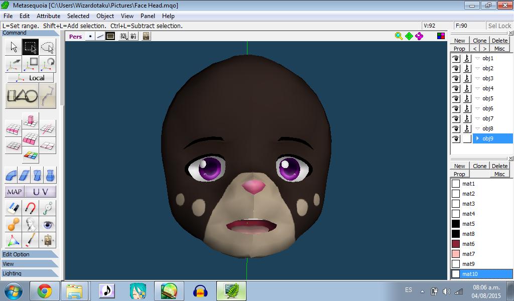 Model WIP - Heiwane face by wizardotaku