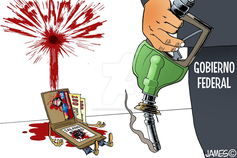 Atentado Salarial by JAMES-cartoons
