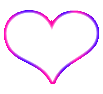 PINK N PURPLE OUTLINE HEART by MissesAmberVaughnPink Heart Outline Png