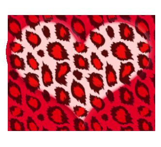 RED LEOPARD HEART by MissesAmberVaughn on DeviantArt