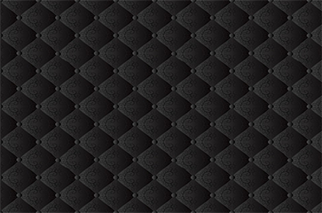 Black Quilted Wallpaper 15976547-black-seamles...