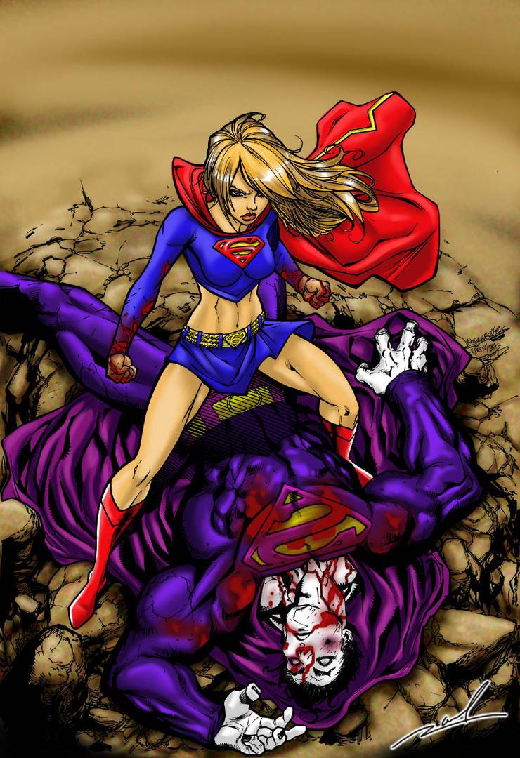 Supergirl Beatdown by Rollbiwan