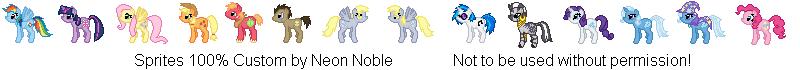 Twelve RPG Ponies by NeonNoble