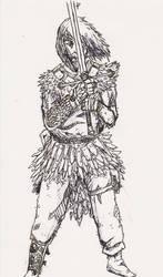 Two-Handed SwordMan by MoonlightHawk
