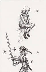 Girl and Claymore Dyde by MoonlightHawk