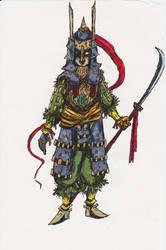 Mysterious Warrior by MoonlightHawk