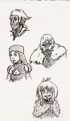 Medieval Character Portraits by MoonlightHawk