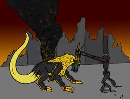 Tyr vs Maera by OperaGhost21