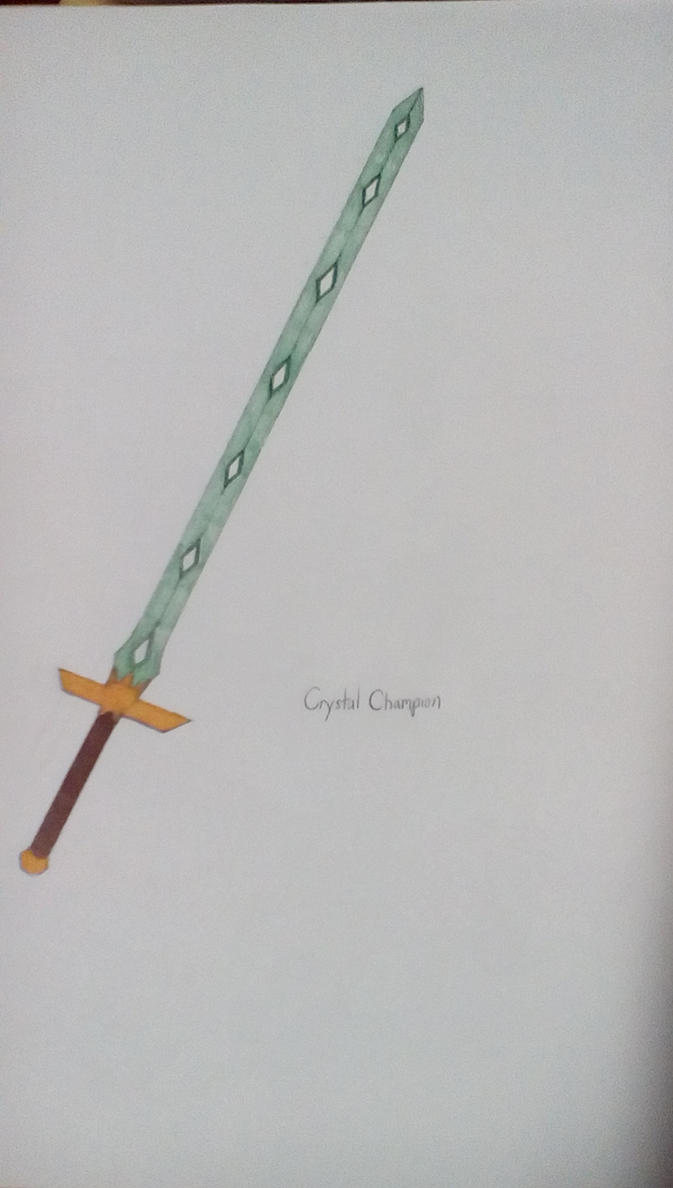 Crystal Champion, Michael's Sword by Brightsworth-Heroes