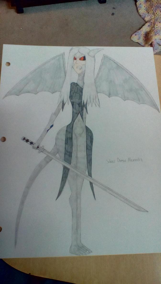 Silver Demon Alexandra by Brightsworth-Heroes