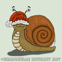 Christmas Gift Snail by Sharquelle