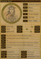 Character Sheet Aronansa (Nansa) by Sharquelle