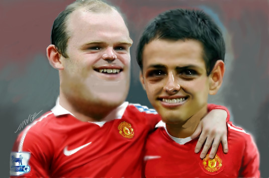 Rooney and Chicharito by MANGE63 on DeviantArt