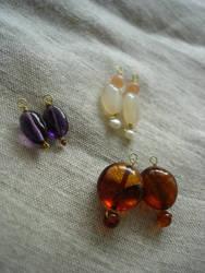 Gem beads for hoop earrings 2 by terrakoru