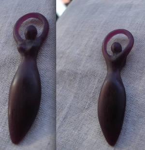 Goddess pendant wax model
