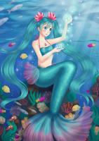Hatsune Miku Mermaid by 39rin