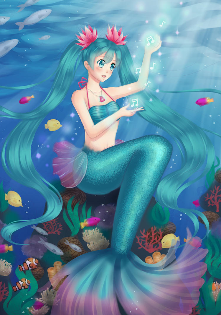 Hatsune Miku Mermaid by 39rin