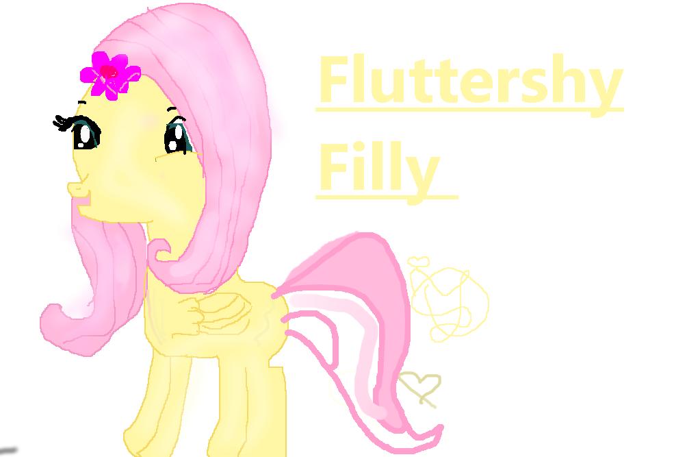 Fluttershy Filly by CelestyaFafa on DeviantArt