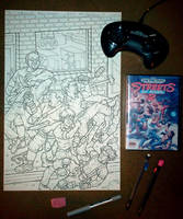 PAPERCUT 2 work in progress comic book cover by sonicblaster59