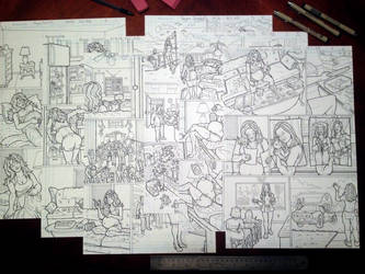 25% done with the new comic book by sonicblaster59