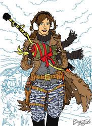 Wasteland Wonderland nomad character Bombshell by sonicblaster59
