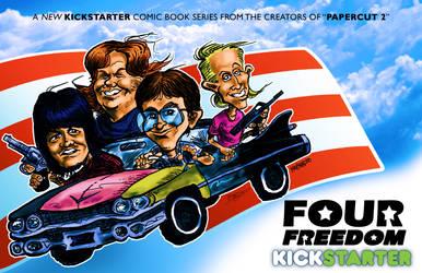 FOUR FREEDOM KICKSTARTER POSTER by sonicblaster59