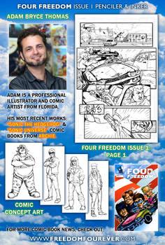 FOUR FREEDOM #1 artist Adam Bryce Thomas!