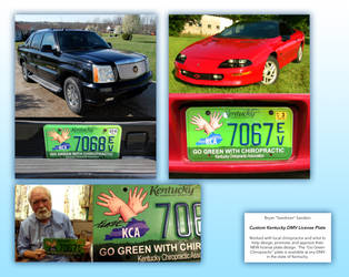 Custom Kentucky DMV License Plat