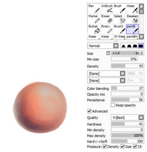 SAI brush settings