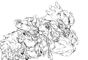 Griselma and Naga  from gigantic