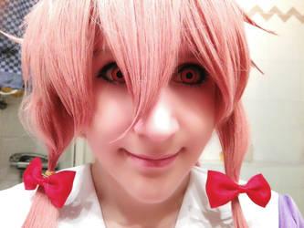 Yuno Mirai Nikki Cosplay Face by Rika-strife