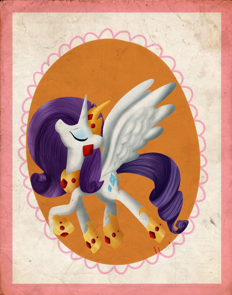 Princess Rarity by CosmicPonye