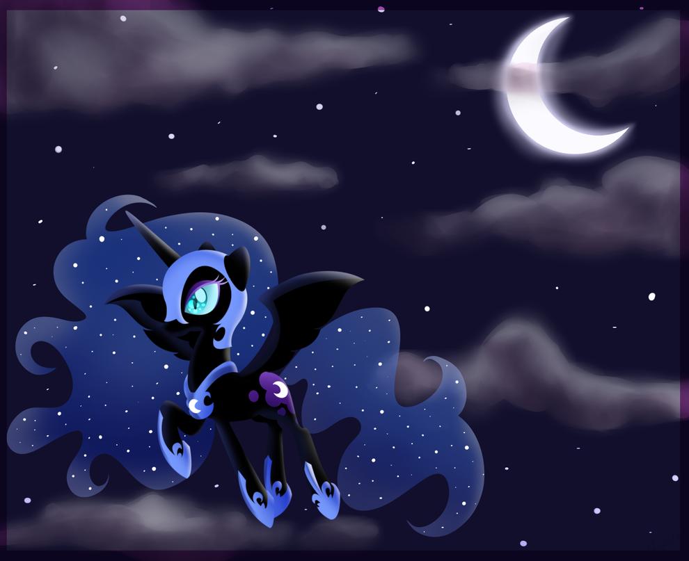 .Nightmare Moon. by CosmicPonye